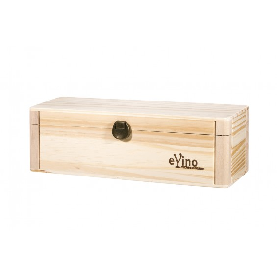 Lesena darilna embalaža, 1 steklenica 0.75L