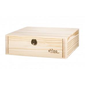 Lesena darilna embalaža za 3 steklenice / 0,75L